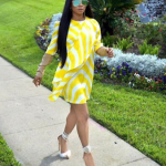 Toke Makinwa stuns in yellow dress