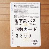 大阪市営地下鉄の回数カード