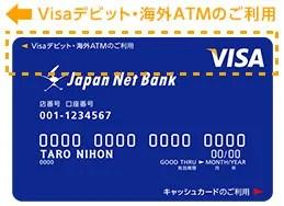 海外での使い方|Visaデビット|ジャパンネット銀行