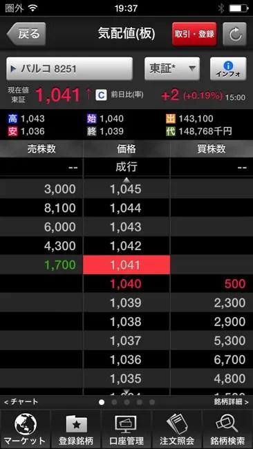 SBI証券のアプリから株取引