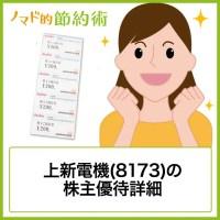 上新電機(8173)株主優待