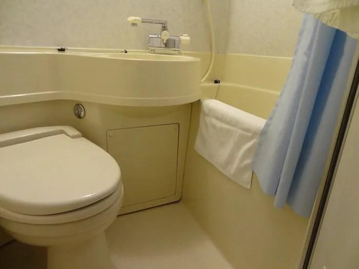 センターホテル東京のシングルルームにのお風呂とトイレ