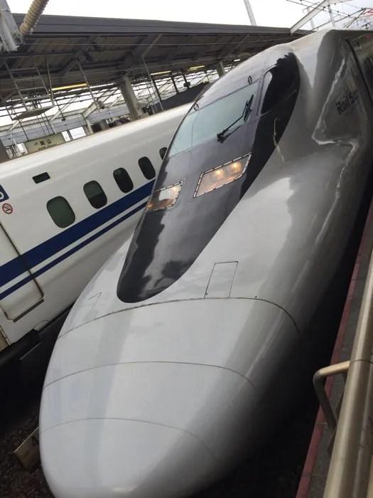 岡山駅で見た新幹線