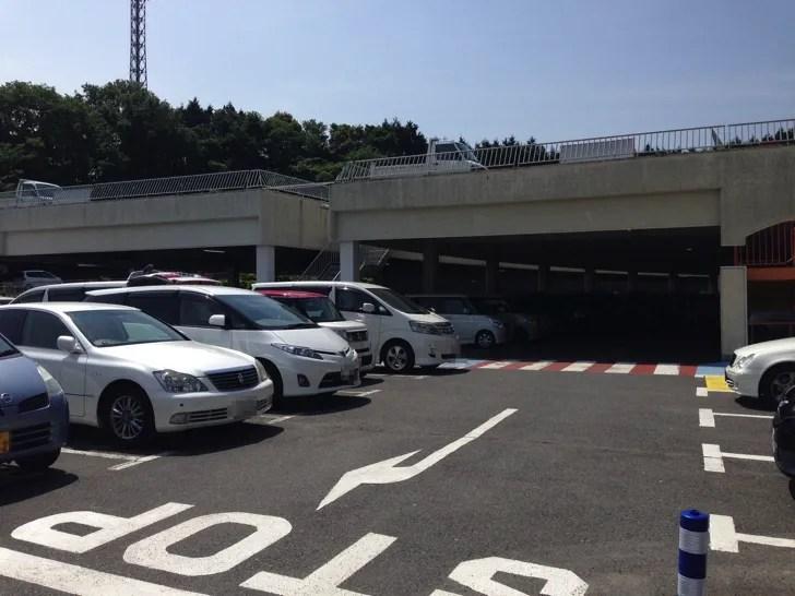 関西サイクルスポーツセンターの駐車場