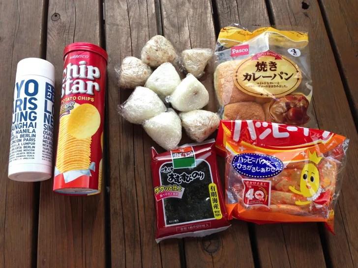 関西サイクルスポーツセンターに持込した飲食物