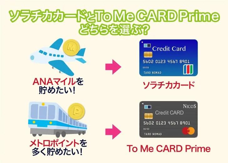 To Me CARD Primeとソラチカカードの選び方の基準