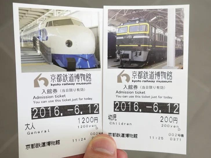 京都鉄道博物館のチケット