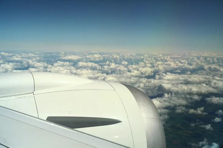 JAL便から見る空の景色