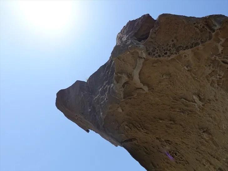鬼ヶ城の削られた岩