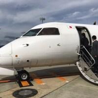 伊丹空港から出雲空港に向かう飛行機