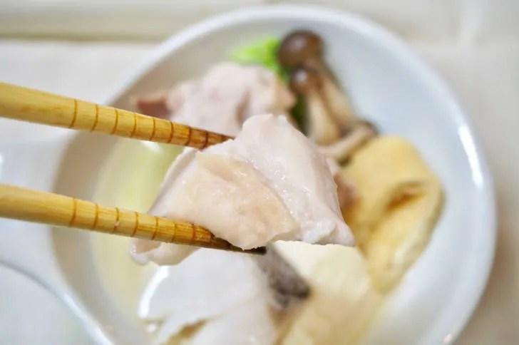 コストコの国産さくらどりもも肉(ちゃんこ鍋にしたときの仕上がり)