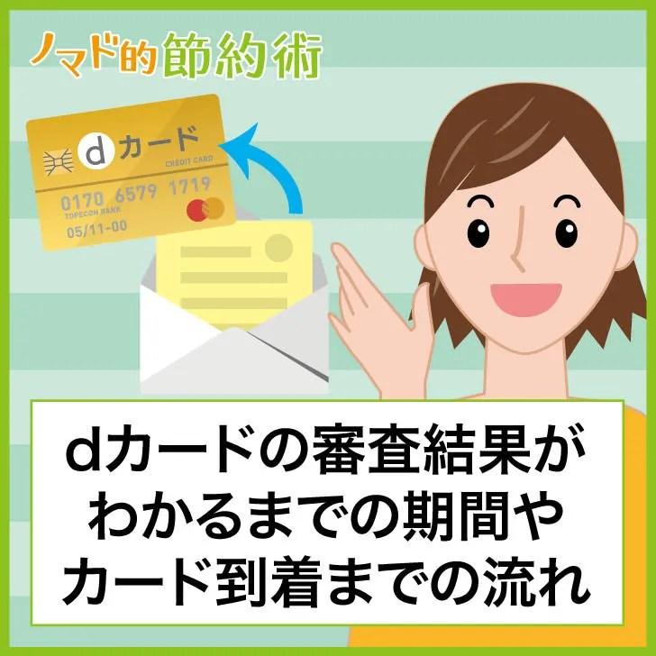 dカードの審査結果がわかるまでの期間やカード到着までの流れ