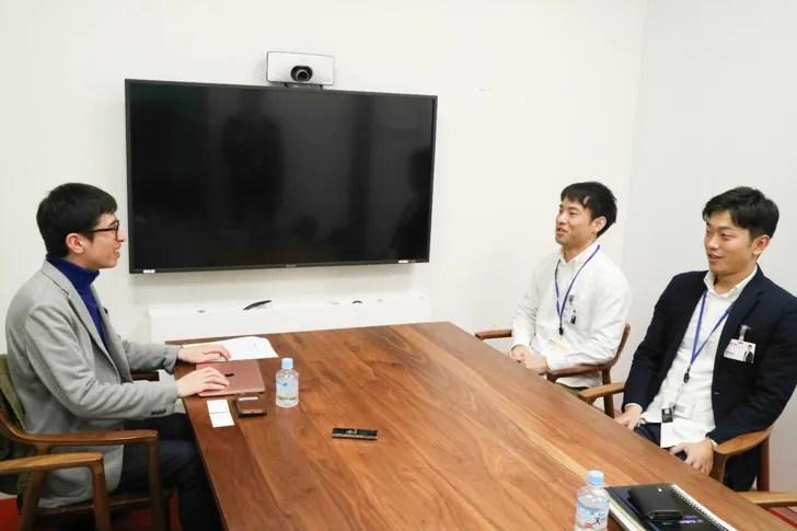 楽天証券インタビュー 3人の写真