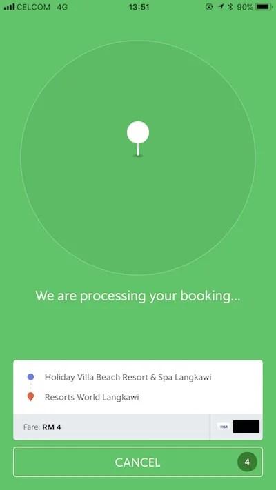 Grabのアプリ画面