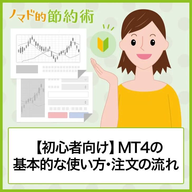 【初心者向け】MT4の基本的な使い方・注文の流れ