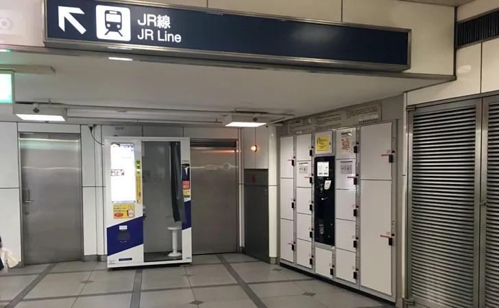 名鉄名古屋駅南改札のコインロッカー写真