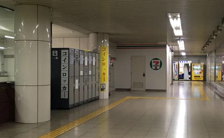 地下鉄名古屋駅のコインロッカーと周辺のサービス