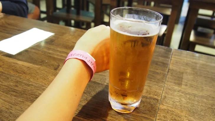 ハワイ・ワイキキにあるシロキヤ・ジャパン・ビレッジ・ウォーク(販売されている1ドル生ビール)