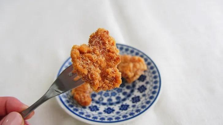 コストコのさくらどり 若鶏唐揚げ(解凍後の表面のサクサク感)