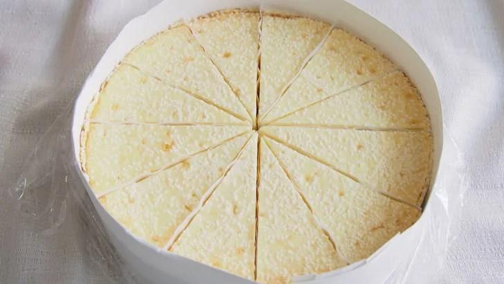 コストコのチーズケーキファクトリー オリジナルチーズケーキ(開封したところ)