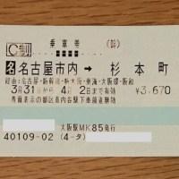 名古屋市内からのきっぷ