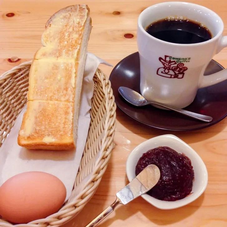 コメダ珈琲店:小倉トーストとコーヒー