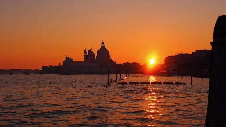 小林敏徳が撮影したイタリア・ベネツィアの夕日