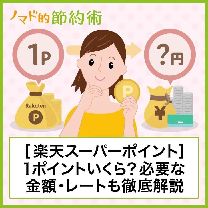 【楽天スーパーポイント】1ポイントいくら?