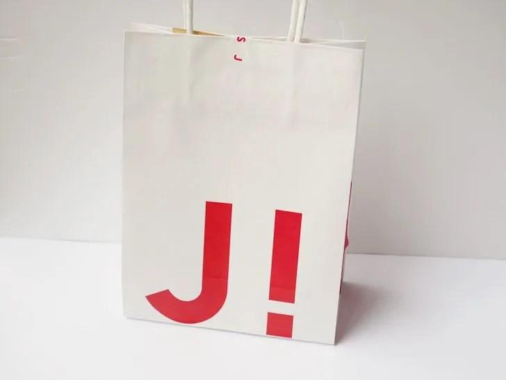 JINS!の紙袋写真