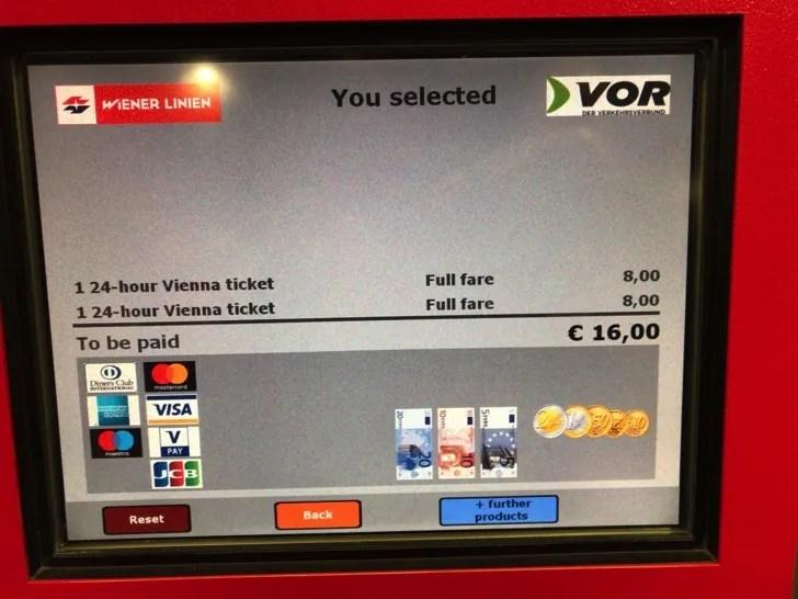 ウィーン24時間チケットの買い方
