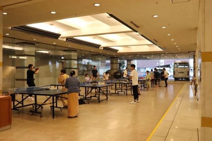 ニューフジヤホテルの卓球とゲームコーナー