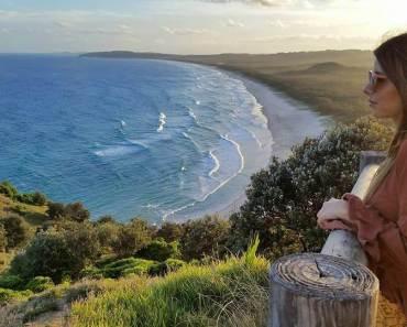 Incrível visual do Farol em Byron Bay