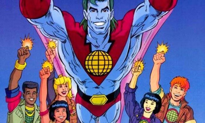 """""""Pela união de seus poderes, eu sou o Capitão Planeta!"""""""