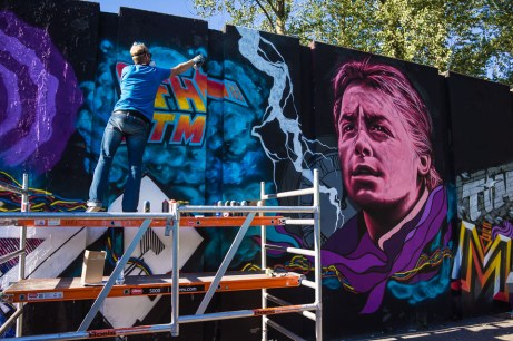 Mural by Mr. Mister at Step in the Arena 2015 in Eindhoven, Neth