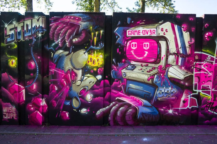 Mural by Stom 500 at Step in the Arena 2015 in Eindhoven, Nether