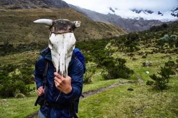 Edwin plays at the Santa Cruz trek in Peru