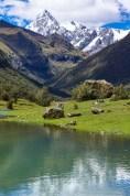View at the Santa Cruz trek in Peru