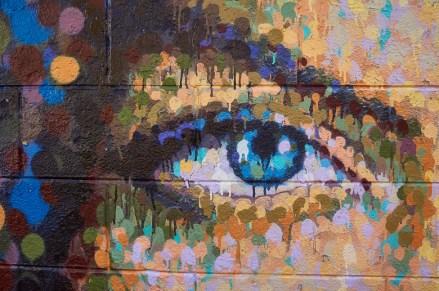 Detail of mural by James Cochran (AKA Jimmy C) in Hasselt, Belgi