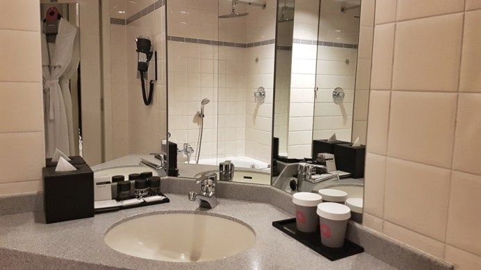Bathroom at the Albus Hotel in Amsterdam