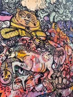 Detail of a mural by Sara Riel in Reykjavik, Iceland