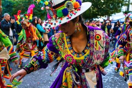 Dancing at Fiesta de la Chakana in Santiago de Chile.