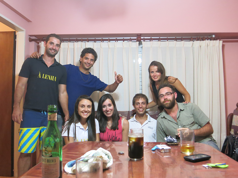 With our hosts in Monte Hermoso _Argentina