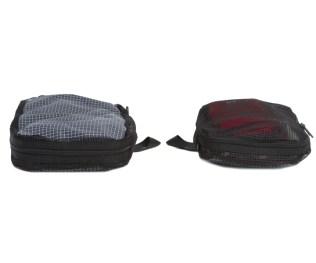 Aeronaut Packing Cubes: On the left is End Pocket, on the right is Small
