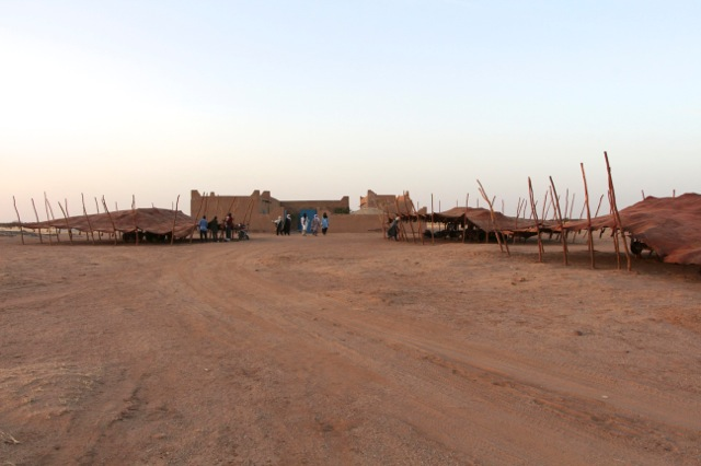 The officials were housed in style in our visitors residence, where our volunteers stay and in enormous Tuareg leather tents.