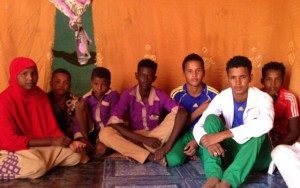 Nomadic kids from Aouedenine attending jr high with our help