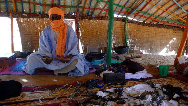 Tuareg artisans co-operative in Fatouma.