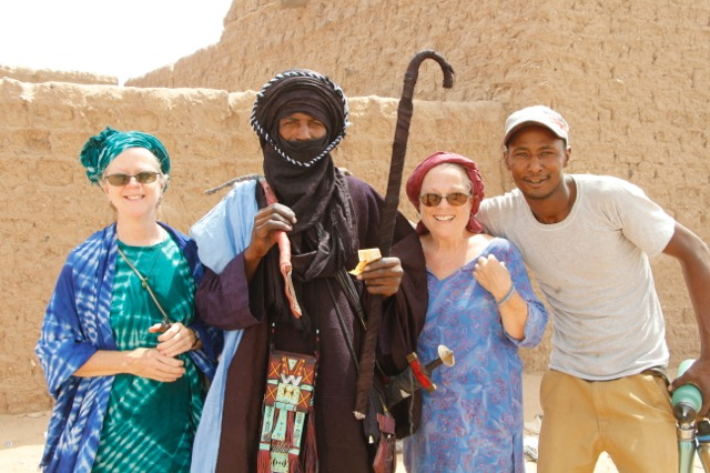 Dr. Becky, the Gani lead dancer, Pat and Boubacar.