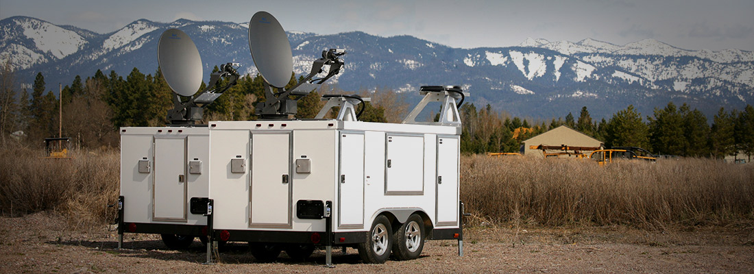 Communications Trailer in Field