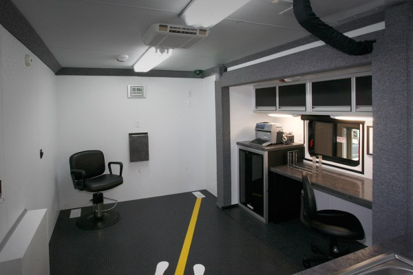 Mobile DUI Processing Area