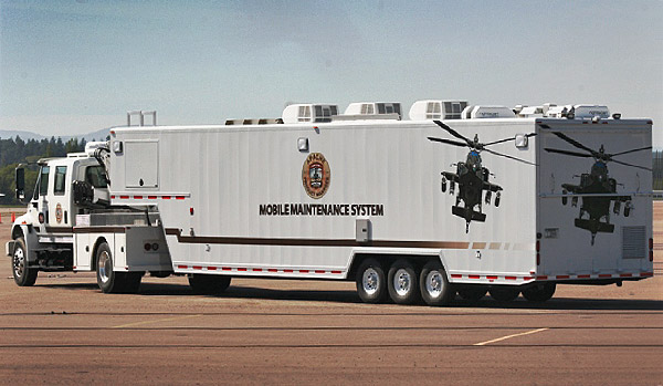 Army AFTD Mobile Telemetry Maintenance Trailer